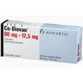 Изображение товара: Ко-Диован CODIOVAN 80 mg/12,5 mg/98 Шт