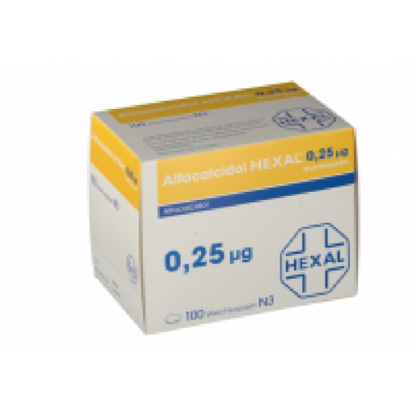 Альфакальцидол ALFACALCIDOL HEXAL 0.25 MG 100st