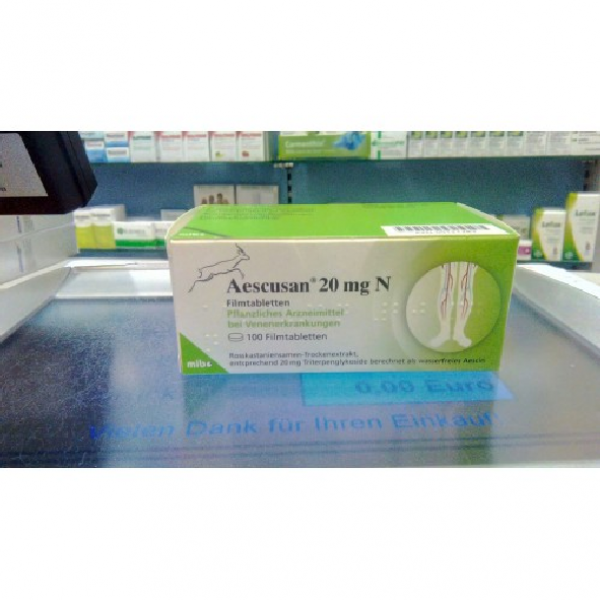 Эскузан Aescusan 20mg N- 100 Шт