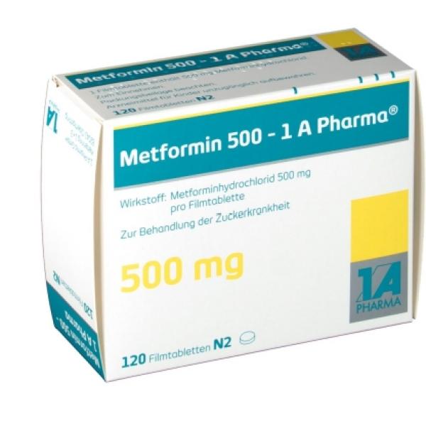 Метформин METFORMIN 500MG - 180 Шт