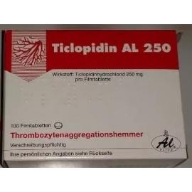 Изображение товара: Тиклопидин TICLOPIDIN 250 - 100 Шт