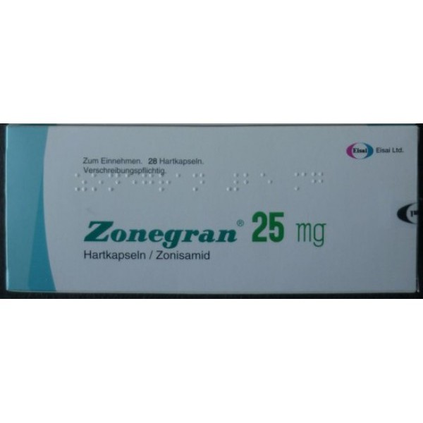 Зонегран Zonegran 25 мг/28 капсул