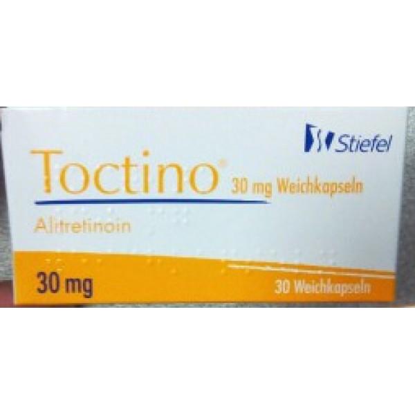 Токтино Toctino (Алитретиноин) 30 мг/30 капсул