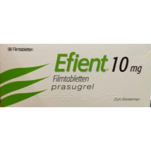 Эффиент Efient(Прасугрель) 10 мг/98 таблеток