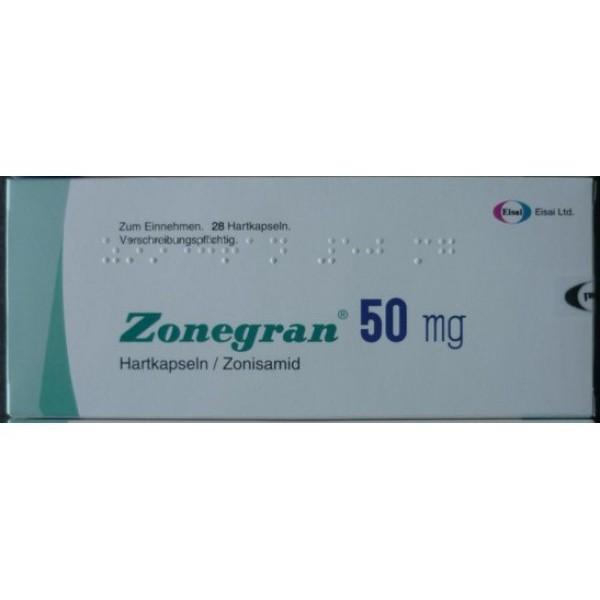 Зонегран Zonegran 50 мг/28 капсул