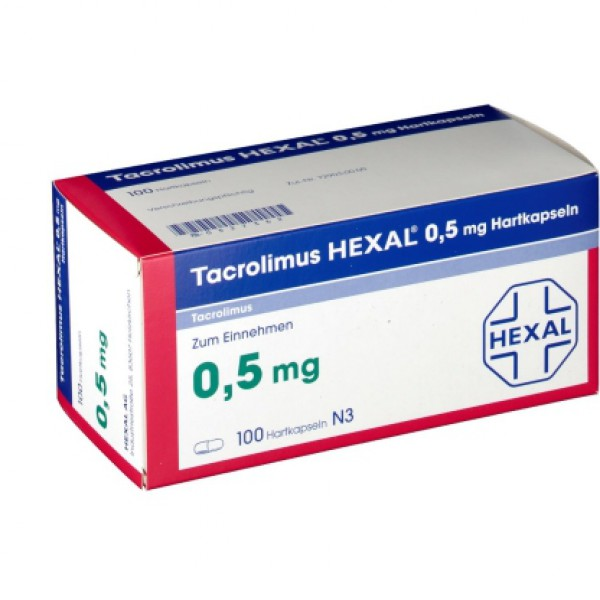 Такролимус Tacrolimus HEXAL 0,5MG/100 шт