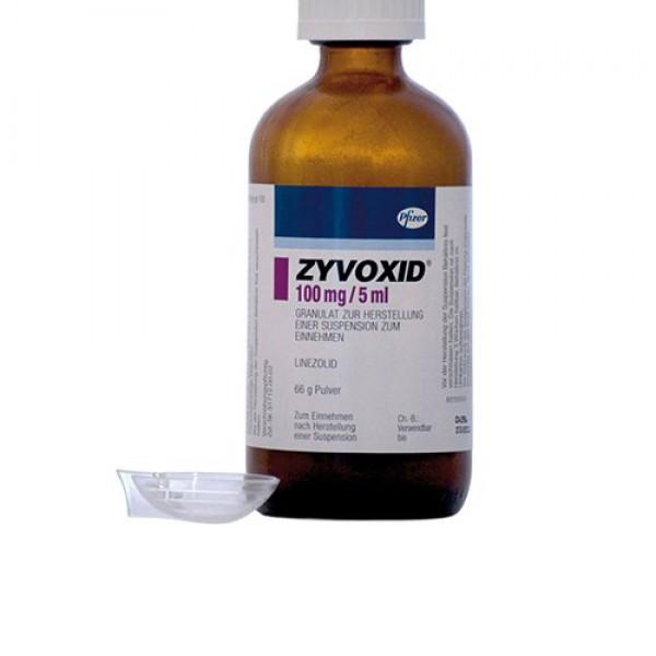 Зивокс Zyvoxid суспензия 100мг/5мл